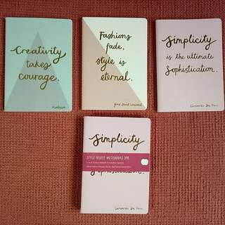 Kikki.K Style quote notebooks