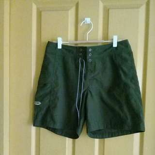 Patagonia olive green board shorts