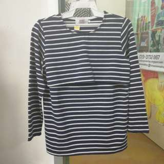 Baju Nursing (stripe)
