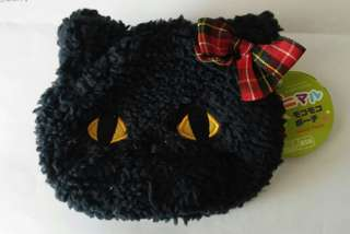 Coin Purse Fluffy Pouch Black Cat