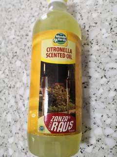 Citronella scented oil