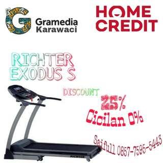 Treadmill Richter Promo 25% Bisa Dicicil Tanpa DP & Tanpa Bunga