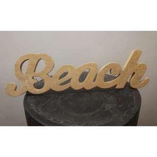 """Wooden """"Beach"""" Sign"""