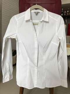 H&M White Long Sleeves in Slim Fit