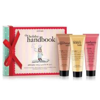 Philosophy hand lotion: the holiday handbook