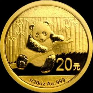2014 1/20oz China Panda Gold Coin