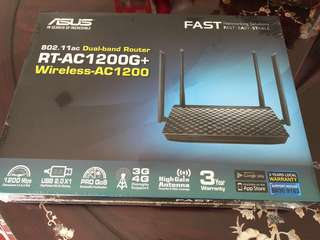 (BNIB)Asus Wireless Router Rt ac 1200G+