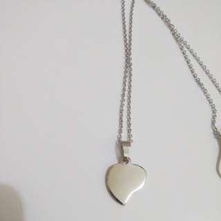 Wacky Heart Necklace Non tarnish