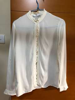 Woman shirt (beige) from mango