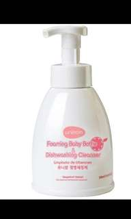 Brand new unimom foaming baby bottle and dishwashing cleanser 500ml grapefruit extract