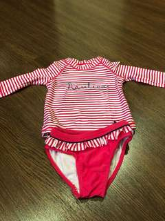 Pre-loved in very good condition nautica rash guard swimsuit for girls