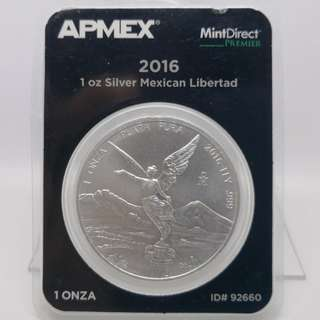 2016 Mexico 1 oz Silver Libertad (MintDirect® Premier Single)