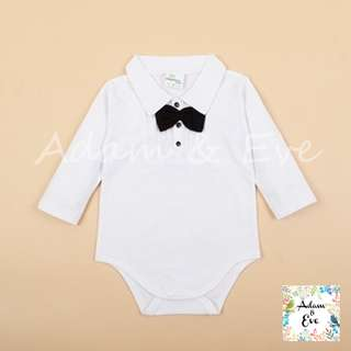 Baby Romper : B1 – White Formal Romper