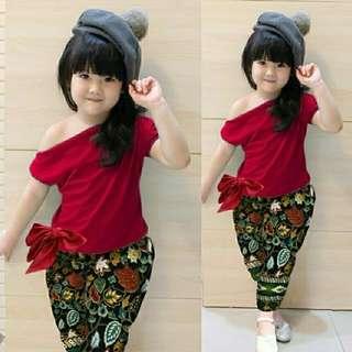 Stelan kiddy pant batik red