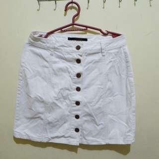 Penshoppe Denim White Skirt