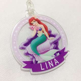 Personalised bagtag / luggage tag - Ariel little mermaid