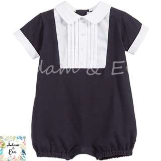 Baby Romper : B2 – Navy Formal Romper $12.90