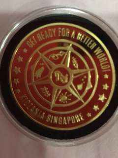 Limited edition Kidszania foundation day gold coin