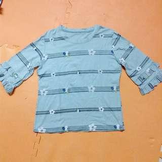 Ruffled sleeves top