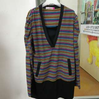 Baju nursing(stripe)