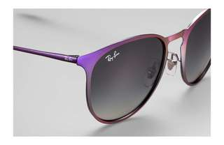 (85% new) Ray-Ban Erika Violet Frame Grey Gradient Sunglasses