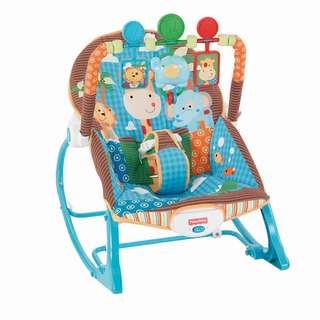 Fisher-Price Y7872 Infant-to-Toddler Rocker, Jungle Fun