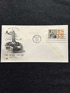 US 1961 15c Statue of Liberty Air Mail Stamp FDC