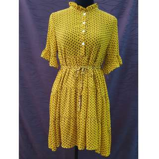 Korean Fashion Yellow Dress