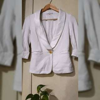 White Formal Blazer