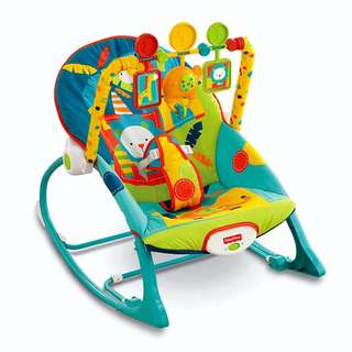 Fisher-Price X7046 Infant-to-Toddler Rocker, Dark Safari