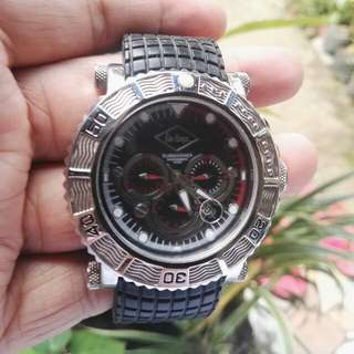 Lee Cooper Submariner Black Chronograph Dial Watch   LC-090710