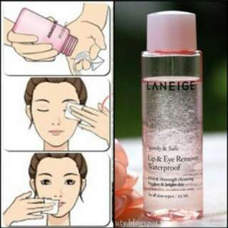 Laneige lip and eye remover