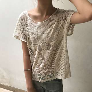 Crochet Top / Lace Blouse