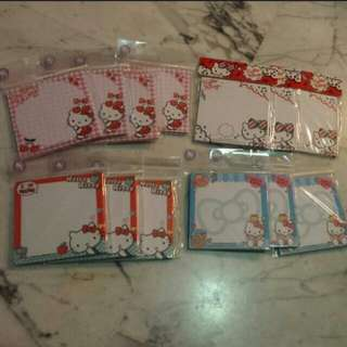 Hello Kitty Note Pad 12 sets