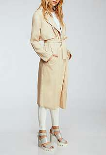 Forever21 Nude Draped Trench Coat