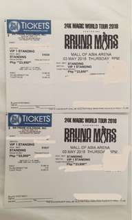 2 VIP Standing DAY 1 Bruno Mars live in Manila 24K Magic World Tour