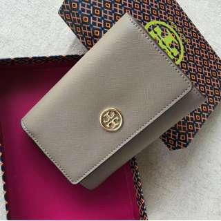 Tory Burch Medium Bifold Wallet Grey
