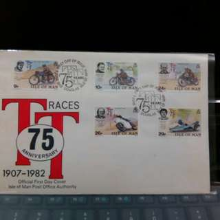 1982 First Day Cover Isle of Man