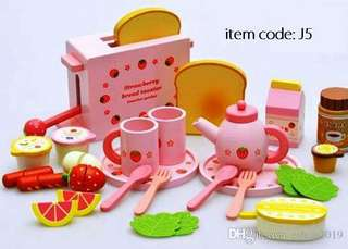 Strawbery toaster set