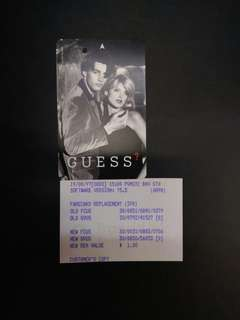 Guess Couple MRT transit link card