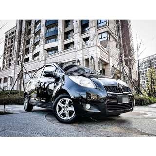 全額貸 2009年 YARIS 黑 G版 原廠鈑件 皮椅 雙安 3500元即可交車 可履約保證無重大事故泡水非營業用車