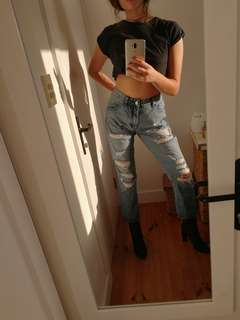 Abrand distressed jeans