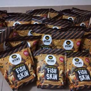 Irvins Salted Egg Fish Skin [Ready Stock]