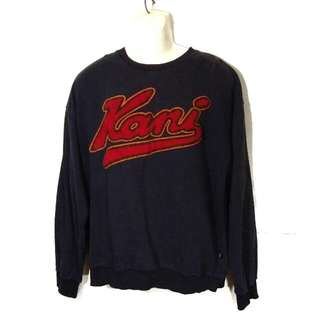 Karl Kani Jeans Spell Out Big Logo Sweatshirts/ Embroidery