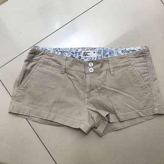 American Eagle Nude Khaki Shorts