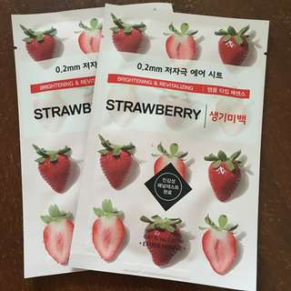 Etude House Strawberry Face Mask