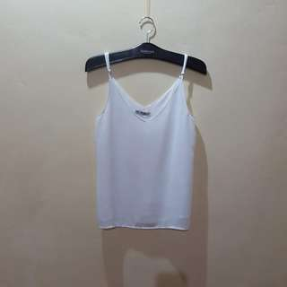 COTTON ON Chiffon white top NWOT