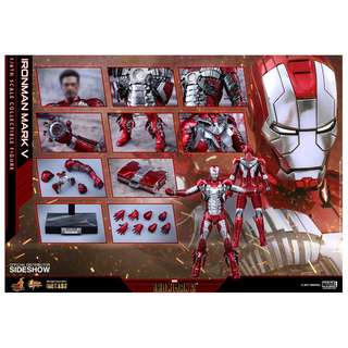放 Hottoys MMS400D18 Ironman Mark 5 Diecast (訂單)