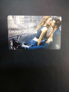 DKNY high fashion couple MRT transit link card