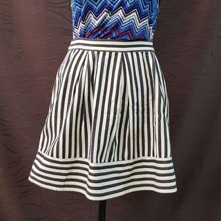 Forever 21 Nautical Striped Skirt